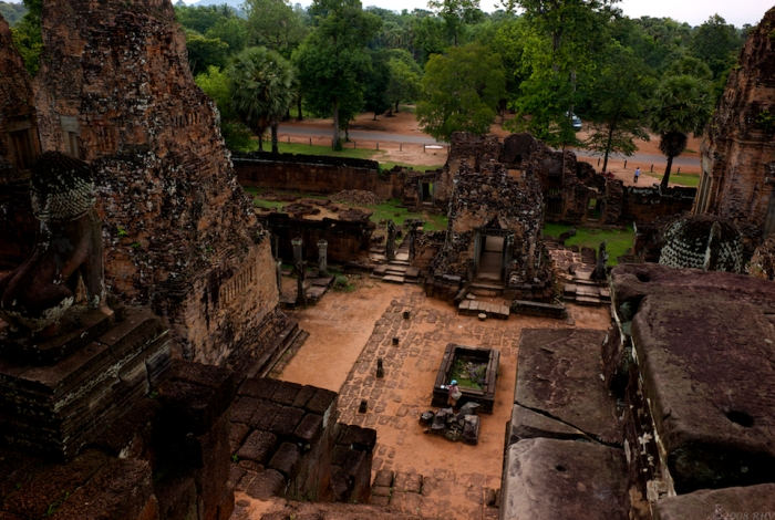 Looking down from Pre Rup